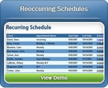 Schedule appointments for your regular clients easily with our Recurring Schedules