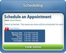 Create appointments for clients with our easy Scheduling process